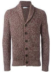 Brunello Cucinelli Shawl Lapel Cardigan Pink Purple