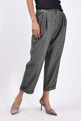 Boutique Checked Mensy Trouser By Grey