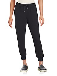 Saks Fifth Avenue Red Cropped Jogger Pants Black