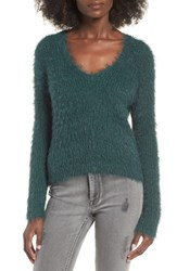 J.O.A. Women's Metallic Fuzzy Sweater