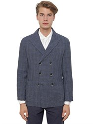 Barena Double Breasted Prince Of Wales Jacket