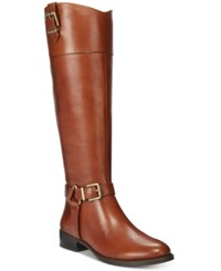 Inc International Concepts Women's Fedee Wide Calf Tall Boots Only At Macy's Women's Shoes Cognac