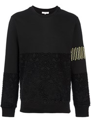 Les Benjamins Textured Sweatshirt Black