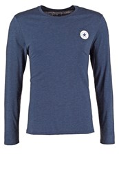 Converse Core Classic Fit Long Sleeved Top Nighttime Navy Heather Dark Blue
