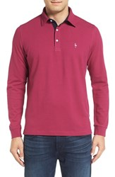 Tailorbyrd Men's Long Sleeve Pique Polo