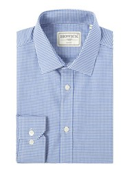 Howick Harbour Gingham Shirt Blue
