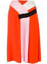 Emilio Pucci Pleated Detail Skirt Yellow Orange