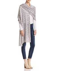 Bloomingdale's C By Animal Print Travel Cashmere Wrap