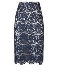 Jacques Vert Lace Skirt Navy