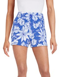 Guess Floral Shorts Blue