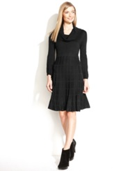 Calvin Klein Long Sleeve Cowl Neck Sweater Dress