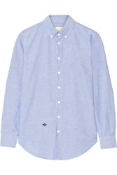 Band Of Outsiders Cotton Oxford Boyfriend Shirt Blue