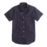 J.Crew Short Sleeve Shirt In Authentic Navy Floral