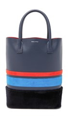 Mother Of Pearl Shopper Tote Navy Stripe