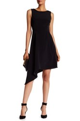 Donna Ricco Sleeveless Wrap Dress Black