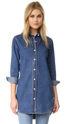 Mih Jeans Denim Oversized Shirt Arrow Blue