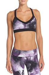 Alo Yoga Women's Alo 'Zena' Sports Bra Purple Pennant Smoke Print
