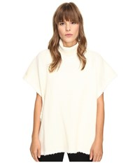 See By Chloe Turtleneck Poncho Natural White
