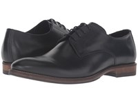 Dune Brummie Black Leather Men's Lace Up Casual Shoes