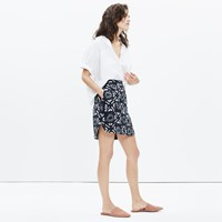 Madewell Distance Skirt In Batik Grid