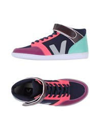 Veja Footwear High Tops And Trainers Women Dark Blue