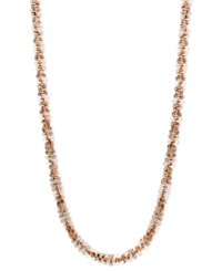 Macy's 14K Rose Gold Necklace 16' Faceted Chain