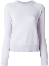 T By Alexander Wang Crew Neck Sweater Blue