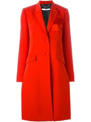 Givenchy Contrast Pocket Coat Red