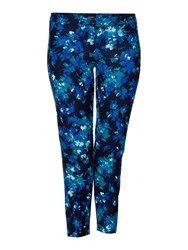Persona Plus Size Ravel Long Length Floral Trouser Blue