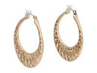 The Sak Metal Works Openwork Metal Hoop Earring Gold Earring