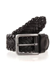 Dents Mens Leather Belt Black