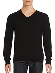 Burberry Solid V Neck Sweater