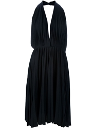 Yves Saint Laurent Vintage Sleeveless Pleated Dress Black