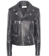 Saint Laurent Classic L01 Leather Jacket Grey