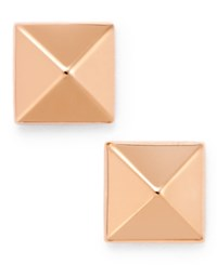 Macy's Pyramid Stud Earrings In 14K Gold White Or Rose Gold