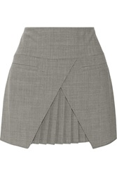 Tibi Edie Woven Mini Skirt Gray