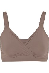 Yummie Tummie By Heather Thomson Rita Stretch Jersey Soft Cup Bra Taupe