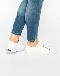 Ted Baker Ophily Leather Trainers White Leather Exotic
