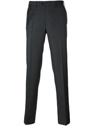 Brioni Classic Checked Trousers Grey