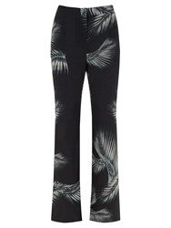 Mint Velvet Kiya Print Soft Flare Trousers Multi