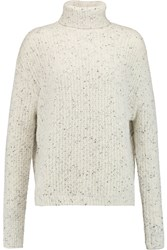 J Brand Fernwood Wool Blend Turtleneck Sweater White