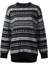Alexander Wang Fair Isle Knit Jumper Black
