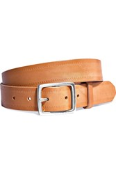 Rag And Bone Boyfriend Emboed Leather Belt Tan