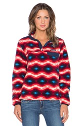 Patagonia Synchilla Snap T Pullover Red