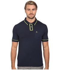 Original Penguin Short Sleeve Two Button Hydro Earl Dark Sapphire Men's Short Sleeve Pullover Blue