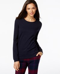 Tommy Hilfiger Beaded Crew Neck Sweater Masters Navy