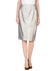 Ivan Montesi Skirts 3 4 Length Skirts Women Grey