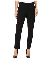 Ellen Tracy Side Zip Tapered Leg Trousers Black Women's Dress Pants