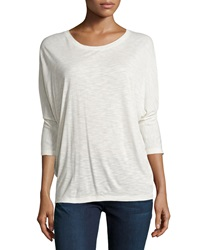 Vince 3 4 Sleeve Dolman Tee Heather Cloud