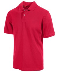 Club Room Big And Tall Performance Uv Protection Men's Polo Shirt Cherry Pink